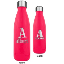 Name & Initial RTIC Bottle - 17 oz. Pink - Engraved Front & Back (Personalized)