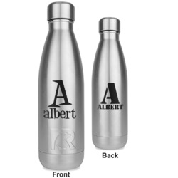 Name & Initial RTIC Bottle - Silver - Engraved Front & Back (Personalized)