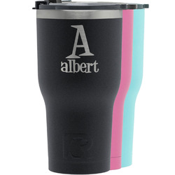 Name & Initial RTIC Tumbler - Black (Personalized)