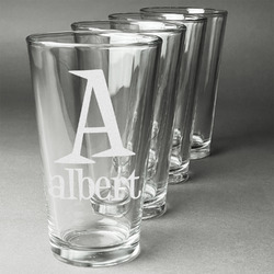Name & Initial Beer Glasses (Set of 4) (Personalized)