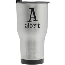 Name & Initial RTIC Tumbler - Silver (Personalized)