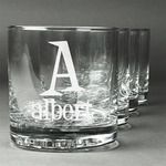 Name & Initial Whiskey Glasses (Set of 4) (Personalized)