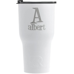 Name & Initial RTIC Tumbler - White (Personalized)