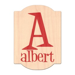 Name & Initial Genuine Wood Sticker (Personalized)