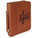 Multiline Text Leatherette Book / Bible Cover with Handle & Zipper (Personalized)