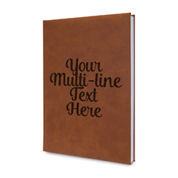 Multiline Text Leatherette Journal (Personalized)