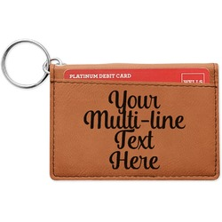 Multiline Text Leatherette Keychain ID Holder (Personalized)