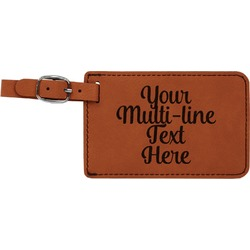Multiline Text Leatherette Luggage Tag (Personalized)