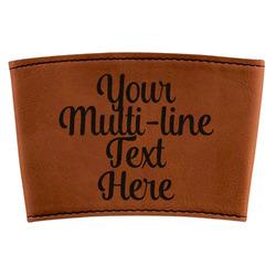 Multiline Text Leatherette Mug Sleeve (Personalized)