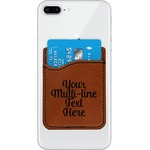 Multiline Text Leatherette Phone Wallet (Personalized)