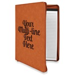 Multiline Text Leatherette Zipper Portfolio with Notepad (Personalized)