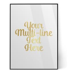 Multiline Text Foil Print (Personalized)