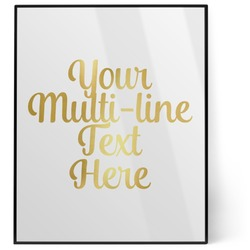 Multiline Text 8x10 Foil Wall Art - White (Personalized)