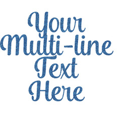 "Multiline Text Glitter Sticker Decal - Up to 9""X9"" (Personalized)"