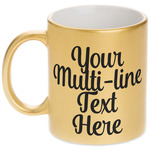 Multiline Text Gold Mug (Personalized)