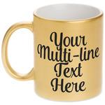 Multiline Text Metallic Gold Mug (Personalized)