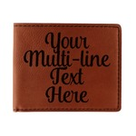 Multiline Text Leatherette Bifold Wallet (Personalized)