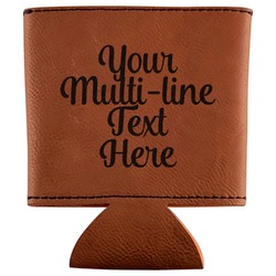 Multiline Text Leatherette Can Sleeve (Personalized)