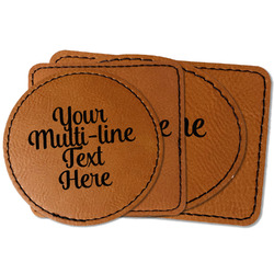 Multiline Text Faux Leather Iron On Patch (Personalized)