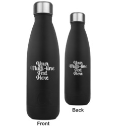 Multiline Text RTIC Bottle - Black - Engraved Front & Back (Personalized)