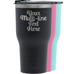 Multiline Text RTIC Tumbler - Black (Personalized)