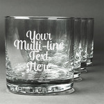 Multiline Text Whiskey Glasses (Set of 4) (Personalized)