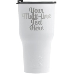 Multiline Text RTIC Tumbler - White (Personalized)