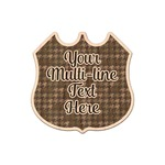Multiline Text Genuine Maple or Cherry Wood Sticker (Personalized)