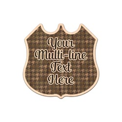 Multiline Text Genuine Wood Sticker (Personalized)