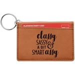 Sassy Quotes Leatherette Keychain ID Holder (Personalized)