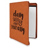 Sassy Quotes Leatherette Zipper Portfolio with Notepad (Personalized)