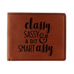Sassy Quotes Leatherette Bifold Wallet (Personalized)