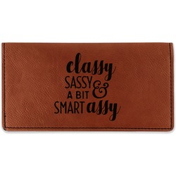 Sassy Quotes Leatherette Checkbook Holder (Personalized)