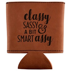 Sassy Quotes Leatherette Can Sleeve (Personalized)