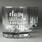 Sassy Quotes Whiskey Glasses (Set of 4) (Personalized)