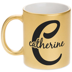 Name & Initial (Girly) Gold Mug (Personalized)
