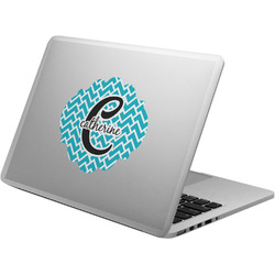Name & Initial (Girly) Laptop Decal (Personalized)