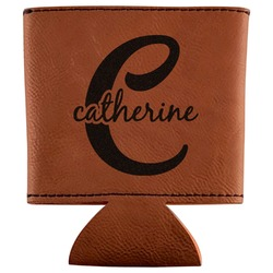 Name & Initial (Girly) Leatherette Can Sleeve (Personalized)