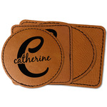 Name & Initial (Girly) Faux Leather Iron On Patch (Personalized)