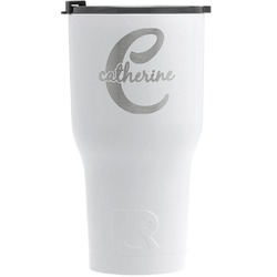 Name & Initial (Girly) RTIC Tumbler - White - Engraved Front (Personalized)