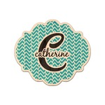 Name & Initial (Girly) Genuine Maple or Cherry Wood Sticker (Personalized)