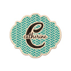 Name & Initial (Girly) Genuine Wood Sticker (Personalized)