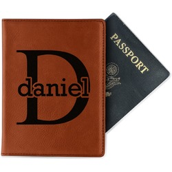 Name & Initial (for Guys) Leatherette Passport Holder (Personalized)