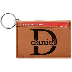 Name & Initial (for Guys) Leatherette Keychain ID Holder (Personalized)