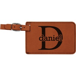 Name & Initial (for Guys) Leatherette Luggage Tag (Personalized)