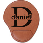 Name & Initial (for Guys) Leatherette Mouse Pad with Wrist Support (Personalized)