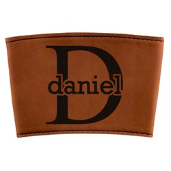 Name & Initial (for Guys) Leatherette Cup Sleeve (Personalized)