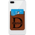 Name & Initial (for Guys) Leatherette Phone Wallet (Personalized)