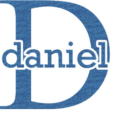Name & Initial (for Guys) Glitter Sticker Decal - Custom Sized (Personalized)