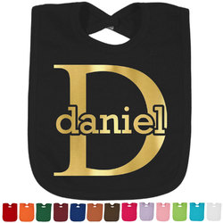 Name & Initial (for Guys) Foil Baby Bibs (Select Foil Color) (Personalized)